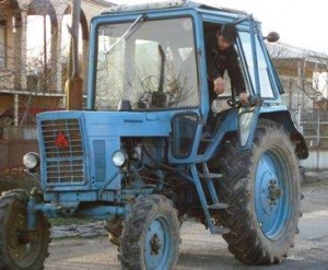 Tractor used by farmers
