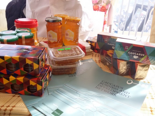 Souvenir packages of Caucasus tea and honey